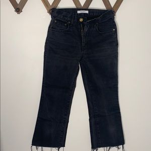 Moussy Cropped Flare Denim